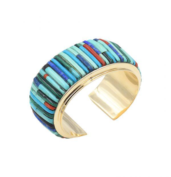 14k gold corn row bracelet