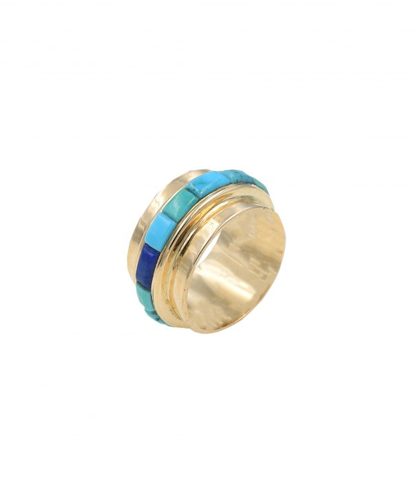 Gold & turquoise ring