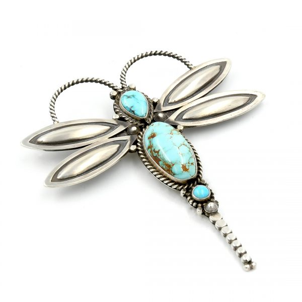 Sterling Silver Dragonfly Pin by Herman Smith