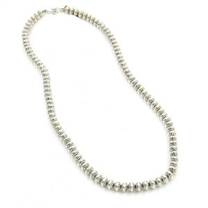 Sterling Silver Bead Necklace by Mary Marie Yazzie