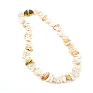 Gold Necklace and Earring Set by Duane Maktima
