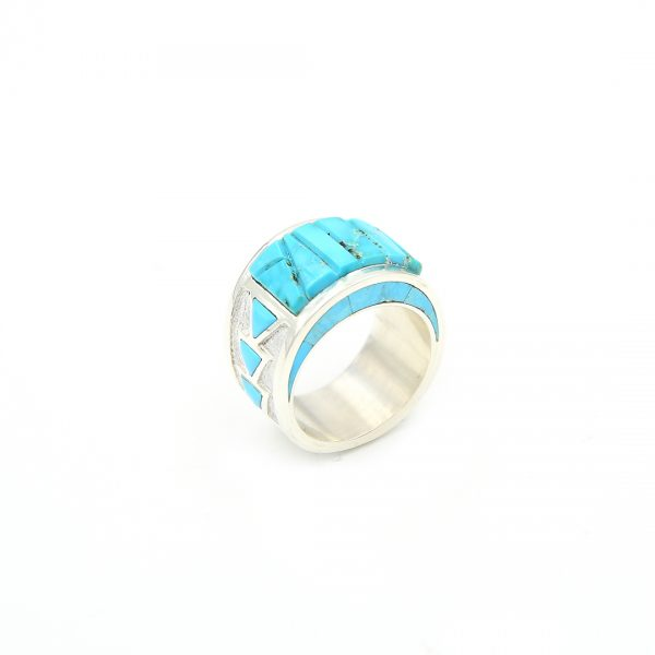 Sterling Silver Turquoise Ring by Mike Perry