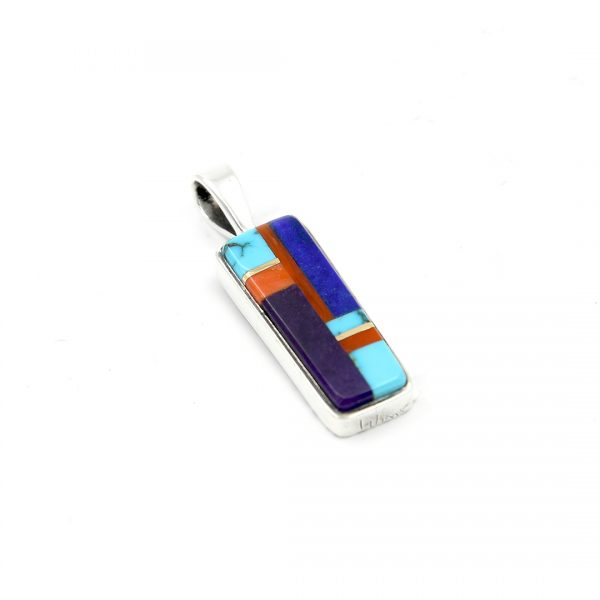 Sterling silver inlaid pendant