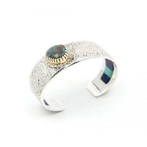 Tuft Casted sterling silver bracelet
