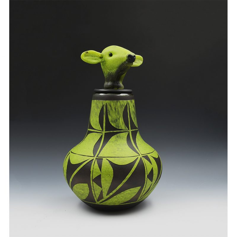 LUJAN, IRA – BLOWN GLASS JAR