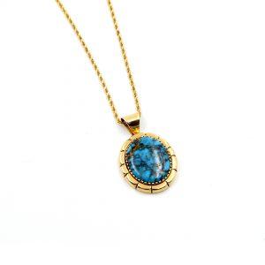 14k gold Turquoise Necklace by Marry Marie