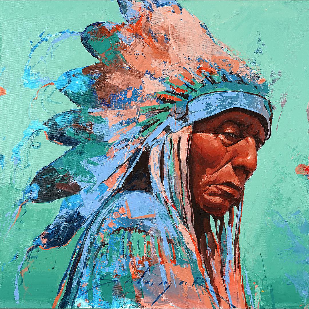 Native American Painting by Jeremy Salazar