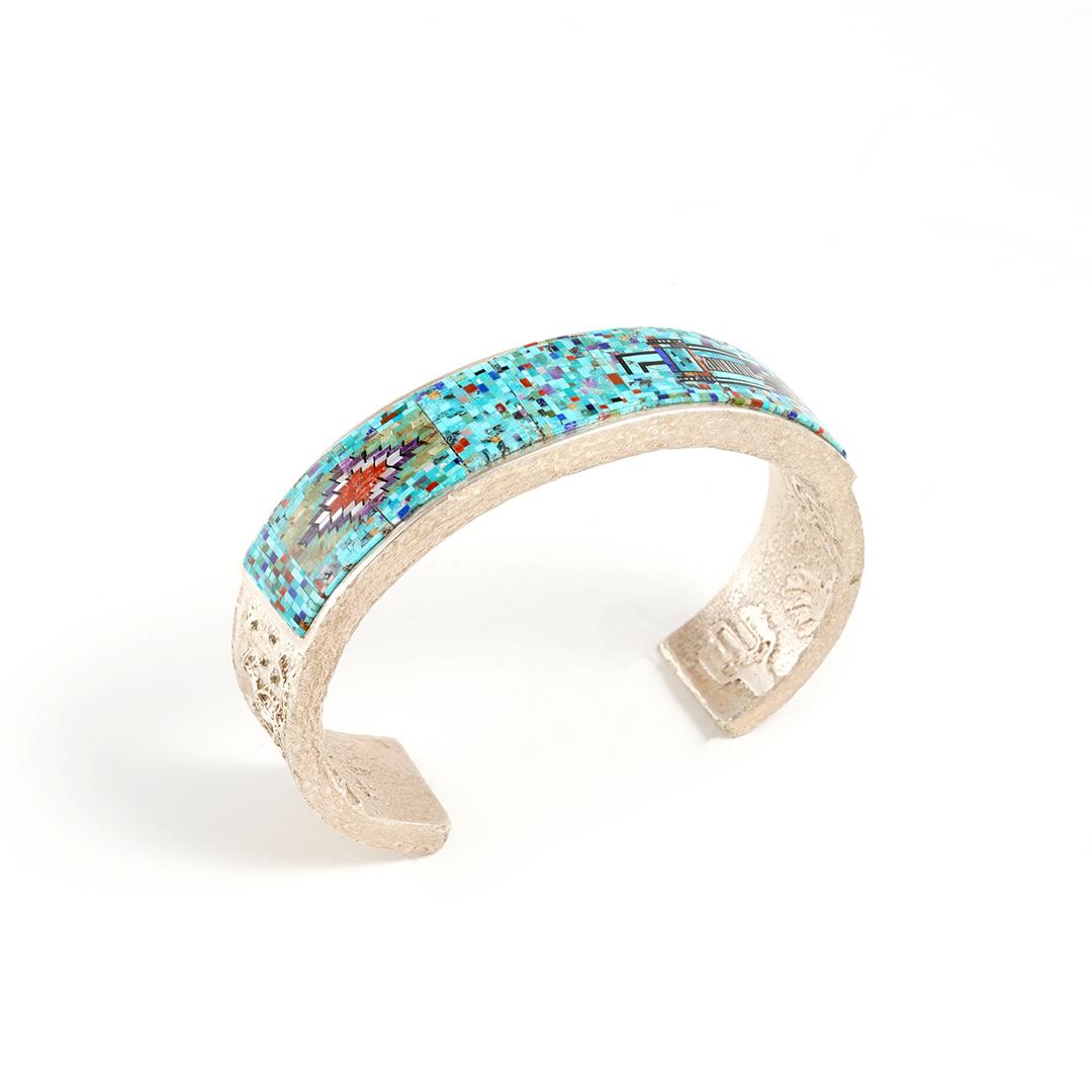 Native American Fine Jewelry Bracelet by Carl & Irene Clark for Sale